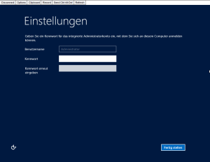 Windows Administrator Kennwort