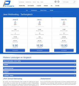 JAVA Webhosting