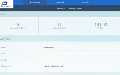 Das neue Design unseres vServer Panels wurde released