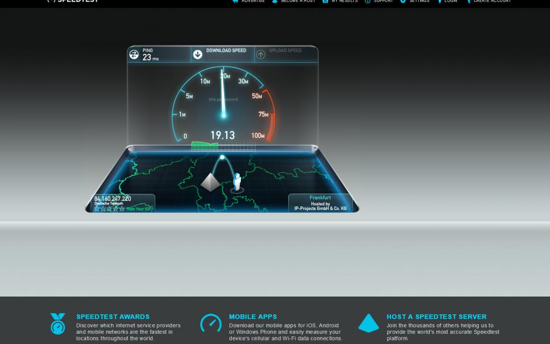 Ein speedtest.net Server steht jetzt zur Verfügung / Mirror Upgrade auf 10 Gigabit/s