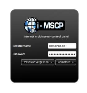 Login I-MSCP