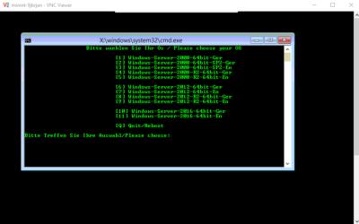 Windows Server 2016 Installationsimage