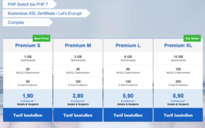 Neue SSD Webhosting Pakete